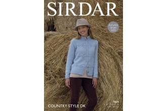 Sirdar 7829 Womens Jacket in Country Style DK (downloadable PDF)