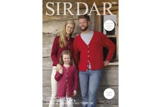 Sirdar 7980 Cardigans in Harrap Tweed DK, Country Style DK and Wash 'n' Wear Double Crepe DK (downloadable PDF)