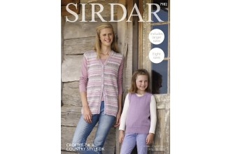 Sirdar 7982 Waistcoat and Tank Top in Crofter DK and Country Style DK (downloadable PDF)