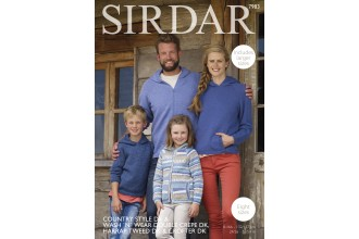 Sirdar 7983 Sweaters and Jackets in Country Style DK, Crofter DK, Wash 'n' Wear Double Crepe DK and Harrap Tweed DK (downloadable PDF)