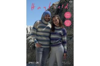 Sirdar 8038 Sweaters in Hayfield Spirit DK (downloadable PDF)