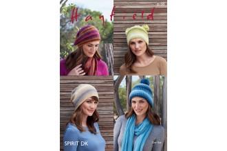 Sirdar 8158 Hats in Hayfield Spirit DK (leaflet)