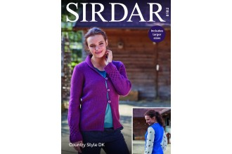 Sirdar 8182 Cardigan and  Waistcoat in Country Style DK  (leaflet)