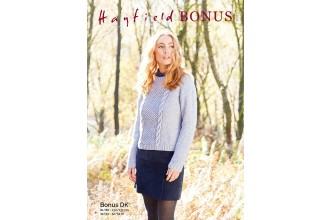Sirdar 8285 Ladies Sweater in Hayfield Bonus DK (downloadable PDF)