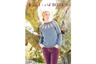 Sirdar 8290 Sweater in Hayfield Bonus DK (leaflet)