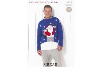 Sirdar 9722 Country Style DK Mens Christmas Jumper (leaflet)