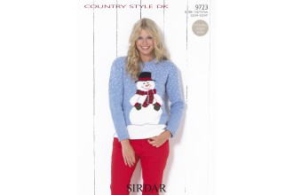 Sirdar 9723 Country Style DK Womens Christmas Jumper (leaflet)