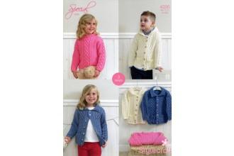 Stylecraft 4205 Aran (leaflet) Duffle Jackets and Sweater