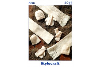 Stylecraft 8049 Hats, Scarves and Mittens in Special Aran (leaflet)