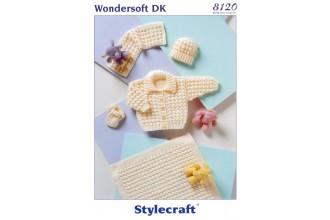 Stylecraft 8120 Wondersoft DK (leaflet) Pram Set