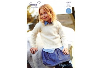 Stylecraft 8903 Special DK (leaflet) Girls Sweater & Cardigan