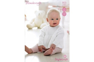 Stylecraft 8975 Wondersoft 4 Ply (leaflet) Sweater, Cardigan & Beret