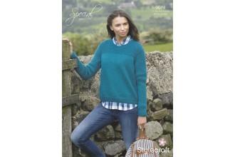 Stylecraft 9074 Special Aran Sweater (leaflet)
