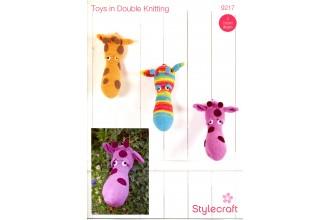Stylecraft 9217 Giraffe Heads in Merry Go Round DK, Life DK and Special DK (leaflet)