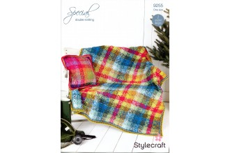 Stylecraft 9255 Crochet Blanket and Cushion Cover in Special DK (leaflet)