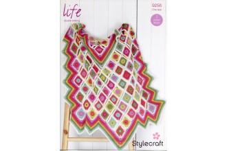 Stylecraft 9256 Crochet Blankets in Life DK (leaflet)