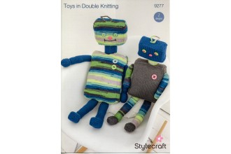 Stylecraft 9277 Robot Toys in Special DK and Merry Go Round (leaflet)