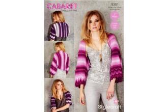 Stylecraft 9301 Womens Shrugs in Cabaret DK (downloadable PDF)