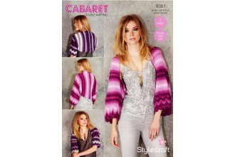 Stylecraft 9301 Womens Shrugs in Cabaret DK (leaflet)
