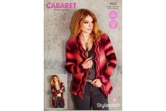 Stylecraft 9302 Womens Cardigans in Cabaret DK (downloadable PDF)