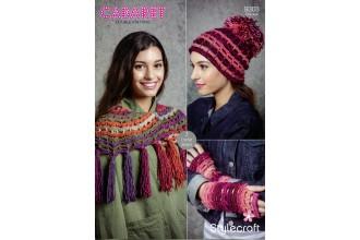 Stylecraft 9303 Crochet Accessories in Cabaret DK (downloadable PDF)