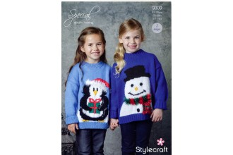 Stylecraft 9309 Childrens Christmas Jumpers in Special DK (leaflet)