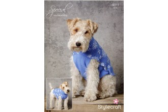 Stylecraft 9311 Snowflake Dog Jacket in Special DK (downloadable PDF)