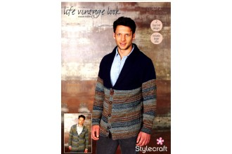 Stylecraft 9312 Cardigans in Life Vintage Look DK and Life DK (downloadable PDF)