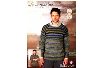 Stylecraft 9313 Sweaters in Life Vintage Look DK and Life DK (downloadable PDF)