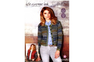 Stylecraft 9314 Cardigans in Life Vintage Look DK and Life DK (downloadable PDF)