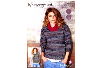 Stylecraft 9315 Sweaters in Life Vintage Look DK and Life DK (downloadable PDF)
