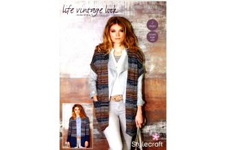 Stylecraft 9316 Jacket and Waistcoat in Life Vintage Look DK and Life DK (downloadable PDF)