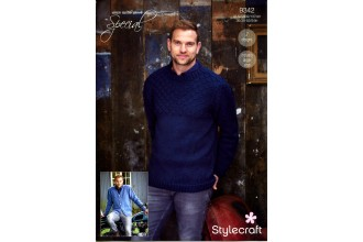 Stylecraft 9342 Sweater and Cardigan in Special Aran with Wool  (leaflet)