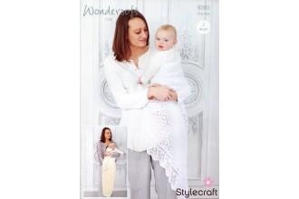 Stylecraft 9392 Shawls in Wondersoft 3 Ply (leaflet)