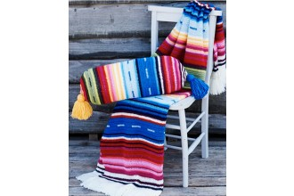 Stylecraft 9436 Serapi Blanket and Bolster Cushion Cover in Life DK (downloadable PDF)