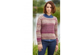Stylecraft 9460 Sweater and Cardigan in Life Vintage Look DK & Life DK (downloadable PDF)