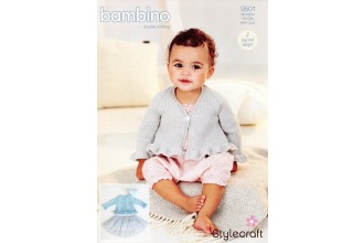 Stylecraft 9501 Cardigans in Bambino DK (downloadable PDF)