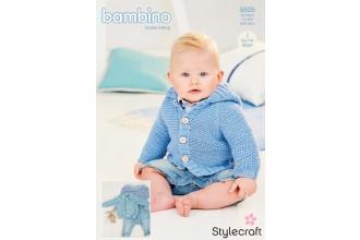 Stylecraft 9505 Cardigans in Bambino DK (leaflet)