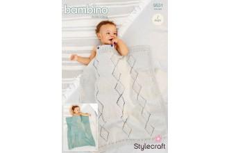 Stylecraft 9531 Blankets in Bambino DK (leaflet)