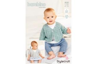 Stylecraft 9532 Crochet Cardigans in Bambino DK (leaflet)