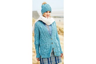 Stylecraft 9554 Cardigan, Snood and Hat in Special Aran with Wool (leaflet)