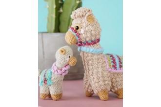 Stylecraft 9595 Amigurumi Llama and Baby in Batik DK and Special DK (leaflet)