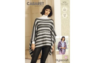 Stylecraft 9781 Crochet Poncho and Shawl in Cabaret DK (downloadable PDF)