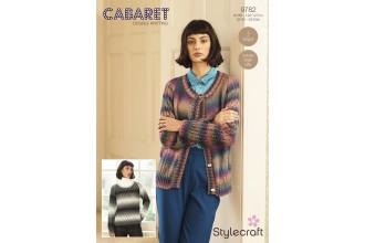 Stylecraft 9782 Cardigan and Jumper in Cabaret DK (downloadable PDF)