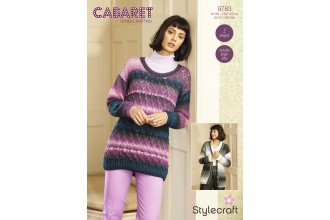 Stylecraft 9783 Cardigan and Jumper in Cabaret DK (leaflet)