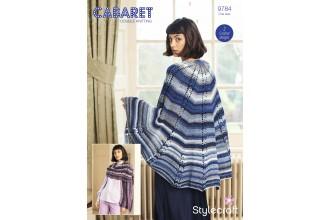 Stylecraft 9784 Crochet Shawls in Cabaret DK (leaflet)