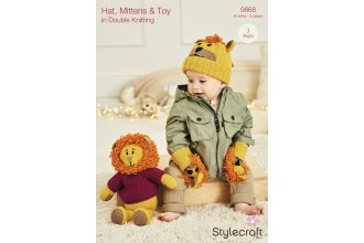 Stylecraft 9868 Rory the Lion Toy, Hat and Mittens in Special DK and Bellissima DK (leaflet)