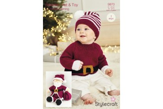 Stylecraft 9870 Santa Toy, Hat and Sweater in Bambino DK, Bellissima DK and Special DK (leaflet)