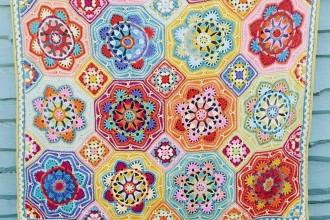 Janie Crow - Eastern Jewels Blanket (Stylecraft Yarn Pack)