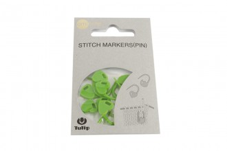 Tulip Locking Stitch Markers - Green Hearts